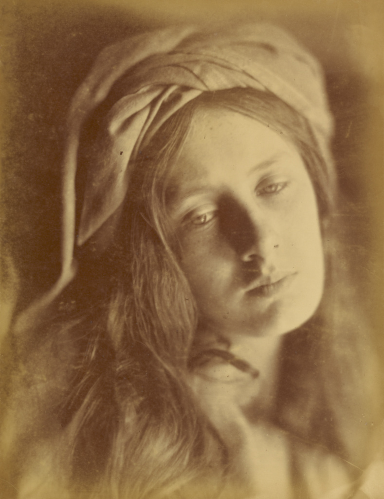 Beatrice; Julia Margaret Cameron (British, born India, 1815 - 1879); Freshwater, Isle of Wight, England; 1866; Albumen silver print; 33.8 × 26.4 cm (13 5/16 × 10 3/8 in.); 84.XM.443.36; The J. Paul Getty Museum, Los Angeles; Rights Statement: No Copyright - United States