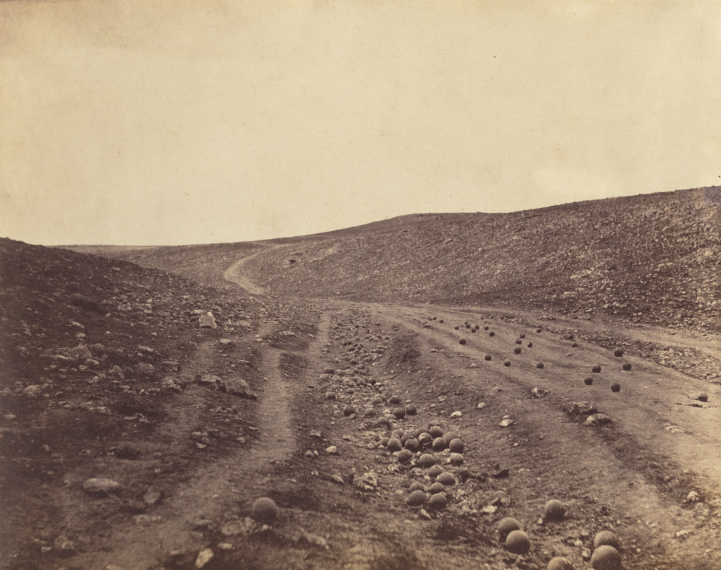 Valley of the Shadow of Death; Roger Fenton (English, 1819 - 1869); April 23, 1855; Salted paper print; 27.6 × 34.9 cm (10 7/8 × 13 3/4 in.); 84.XM.504.23; Rights Statement: No Copyright - United States