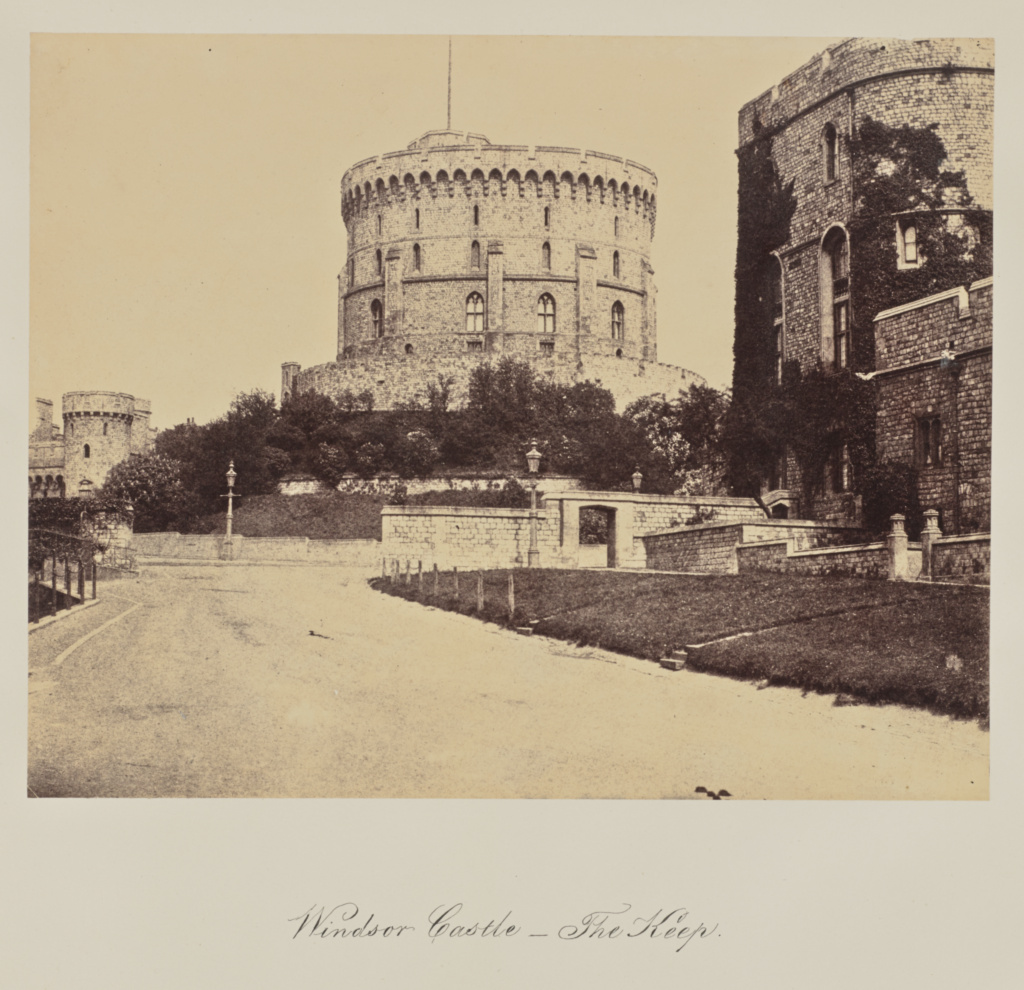 Windsor Castle - The Keep.; Arthur James Melhuish (English, 1829 - 1895); Windsor, Great Britain; 1856; Albumen silver print; 21.6 × 27.3 cm (8 1/2 × 10 3/4 in.); 84.XO.735.1.68; The J. Paul Getty Museum, Los Angeles; Rights Statement: No Copyright - United States