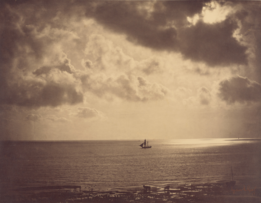 The Brig; Gustave Le Gray (French, 1820 - 1884); 1856; Albumen silver prints from glass negatives; 32.1 × 40.8 cm (12 5/8 × 16 1/16 in.); 84.XM.637.2; Rights Statement: No Copyright - United States