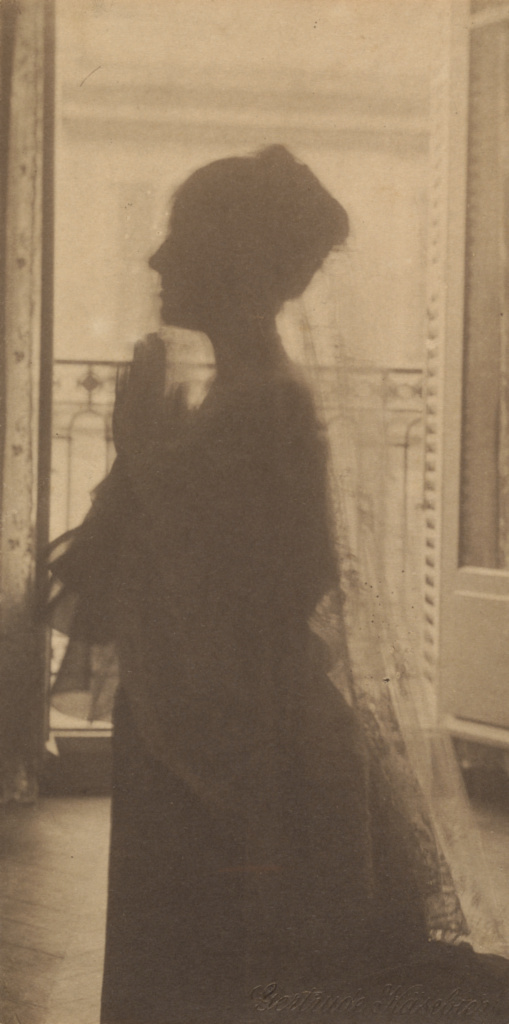 [Silhouette of a Woman / A Maiden at Prayer]; Gertrude Käsebier (American, 1852 - 1934); New York, New York, United States; about 1899; Platinum print; 20 × 10 cm (7 7/8 × 3 15/16 in.); 87.XM.59.28; The J. Paul Getty Museum, Los Angeles; Rights Statement: No Copyright - United States