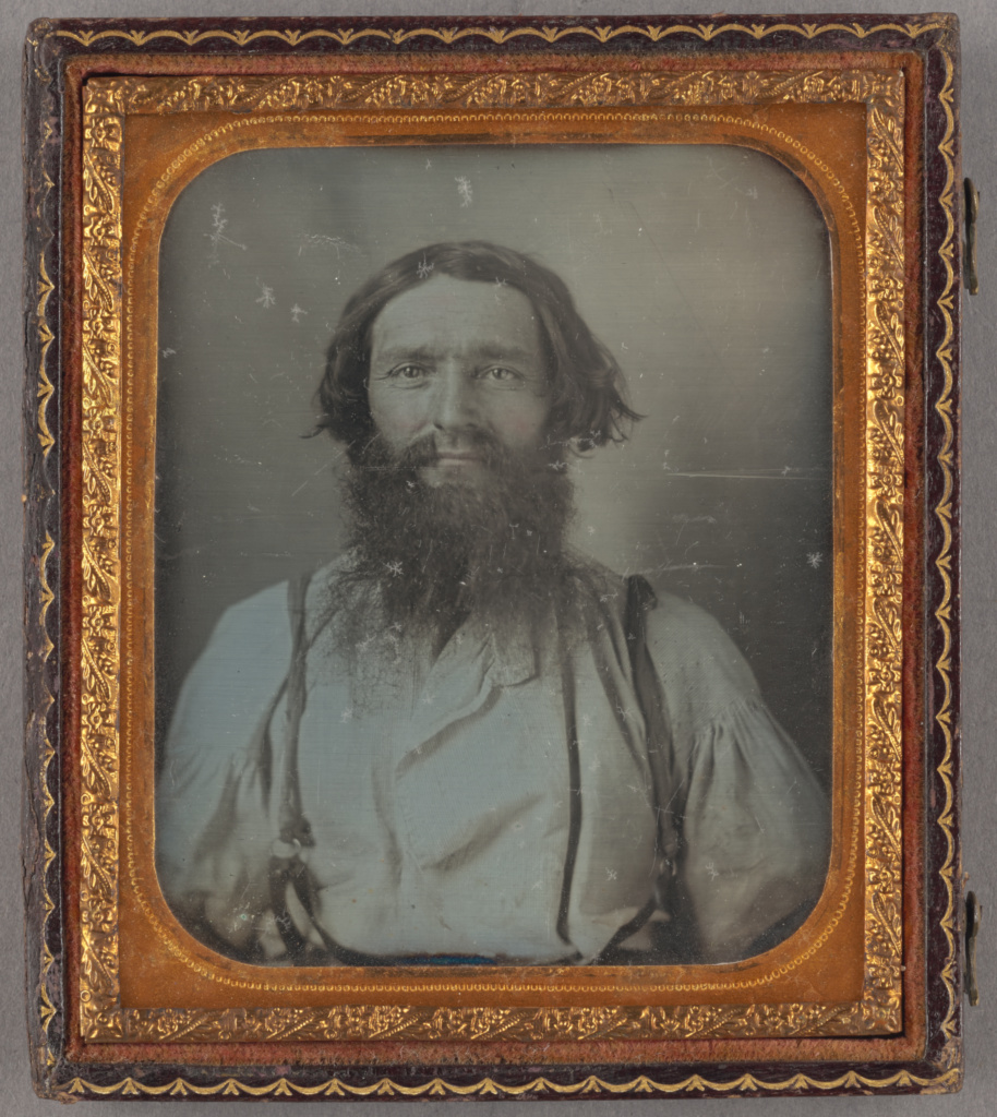 [Portrait of a blacksmith]; Unknown maker, American; about 1858; Daguerreotype; 84.XT.1572.4.2; The J. Paul Getty Museum, Los Angeles; Rights Statement: No Copyright - United States