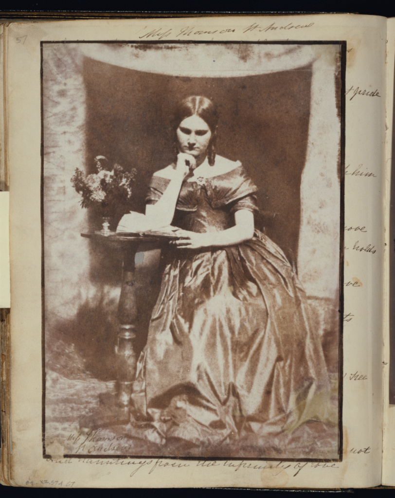 Miss Thomson of St. Andrews; Dr. John Adamson (Scottish, 1810 - 1870); about 1845; Salted paper print from a paper negative; 19.8 × 14.3 cm (7 13/16 × 5 5/8 in.); 84.XZ.574.67; Rights Statement: No Copyright - United States