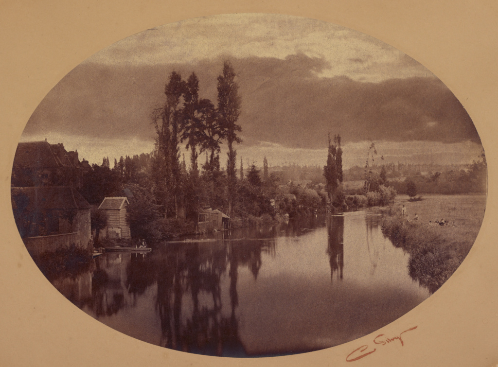 [River Scene, France]; Camille Silvy (French, 1834 - 1910); negative 1858; print 1860s; Albumen silver print; 25.7 × 35.6 cm (10 1/8 × 14 in.); 90.XM.63; The J. Paul Getty Museum, Los Angeles; Rights Statement: No Copyright - United States