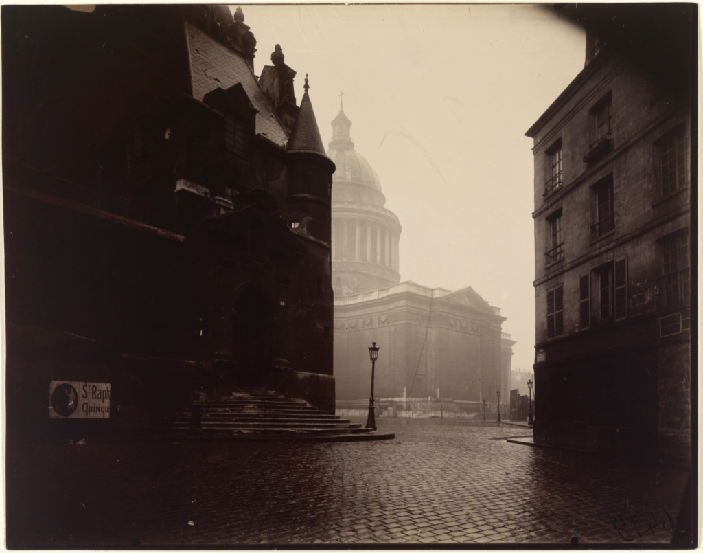 The Panthéon; Eugène Atget (French, 1857 - 1927); Paris, France; 1924; Gelatin silver chloride print on printing-out paper; 17.8 × 22.6 cm (7 × 8 7/8 in.); 90.XM.64.34; The J. Paul Getty Museum, Los Angeles; Rights Statement: No Copyright - United States