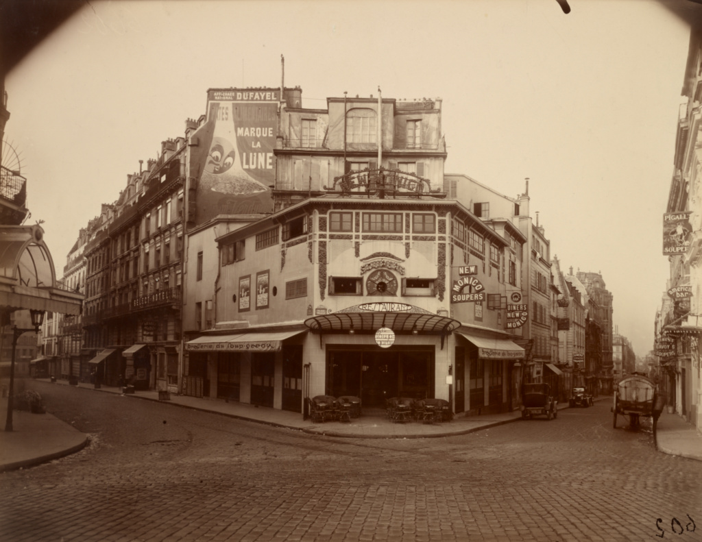 Place Pigalle; Eugène Atget (French, 1857 - 1927); Paris, France; 1925; Gelatin silver chloride printing-out paper print; 17.8 × 22.9 cm (7 × 9 in.); 90.XM.64.171; The J. Paul Getty Museum, Los Angeles; Rights Statement: No Copyright - United States