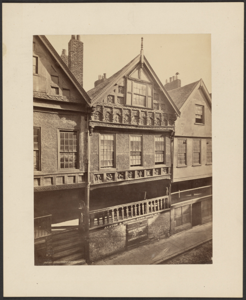Bishop Lloyd's House, Chester; Francis Frith (English, 1822 - 1898); Chester, England; about 1885; Albumen silver print; 21.3 × 16.5 cm (8 3/8 × 6 1/2 in.); 84.XP.1432.7; The J. Paul Getty Museum, Los Angeles; Rights Statement: No Copyright - United States