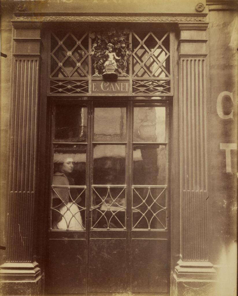 Petit Bacchus, 61, rue St. Louis en l'Ile (The Little Bacchus Café, rue St. Louis en l'Ile); Eugène Atget (French, 1857 - 1927); 1901 - 1902; Albumen silver print; 22.1 × 17.8 cm (8 11/16 × 7 in.); 90.XM.124.13; Rights Statement: No Copyright - United States