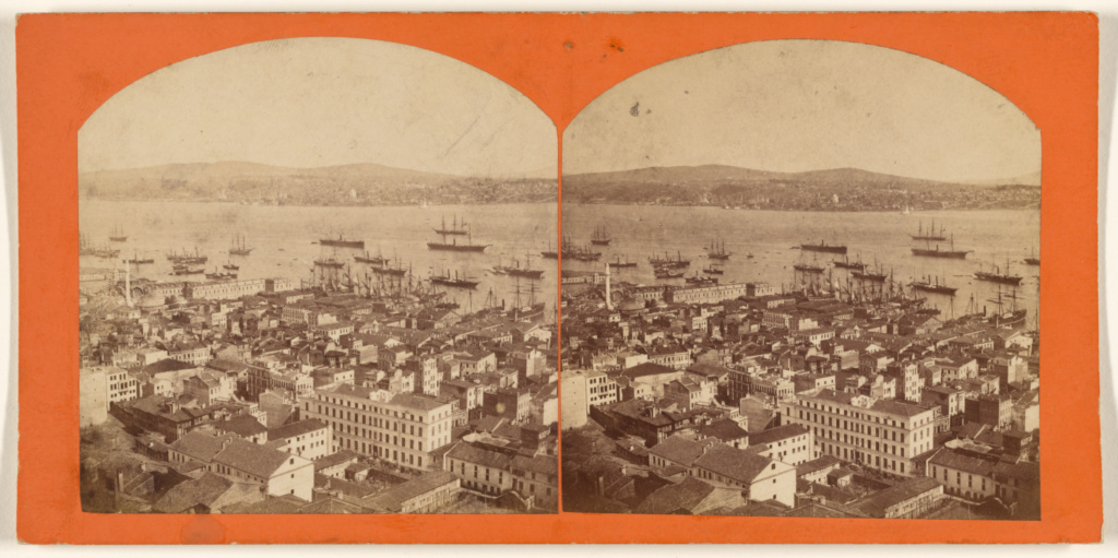 [View of harbor at Constantinople]; Abdullah Frères (Armenian, active 1860s - 1890s); about 1865–1875; Albumen silver print; 84.XC.873.2018; Rights Statement: No Copyright - United States