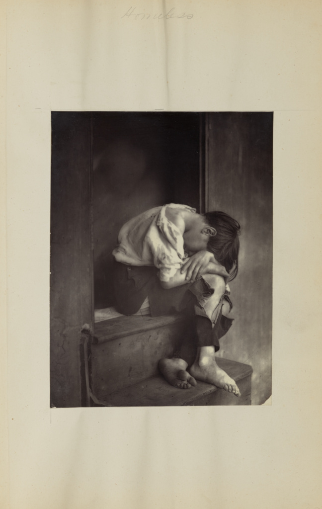 Poor Joe; Oscar Gustave Rejlander (British, born Sweden, 1813 - 1875); negative about 1860; print later; Carbon print; 20 × 15.1 cm (7 7/8 × 5 15/16 in.); 84.XA.828.6.13; Rights Statement: No Copyright - United States