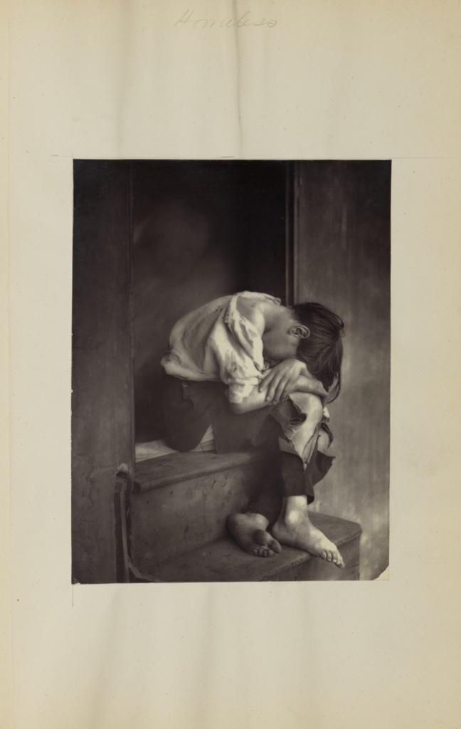 Poor Joe; Oscar Gustave Rejlander (British, born Sweden, 1813 - 1875); negative about 1860; print later; Carbon print; 20 × 15.1 cm (7 7/8 × 5 15/16 in.); 84.XA.828.6.13; Rights Statement: No Copyright - United States
