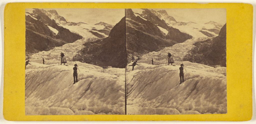 Ice Glaciers - Switzerland.; Edward and Henry T. Anthony & Co. (American, founded 1862, merged 1902); 1864–1868; Albumen silver print; 84.XC.873.7658; Rights Statement: No Copyright - United States
