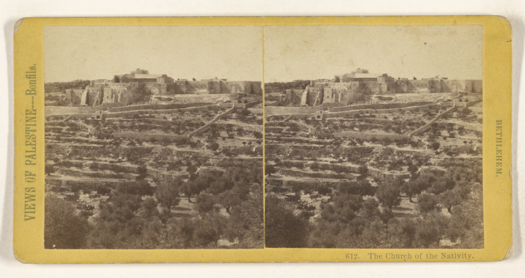 The Church of the Nativity. Bethlehem.; Félix Bonfils (French, 1831 - 1885); about 1866–1867; Albumen silver print; 84.XC.873.4350; The J. Paul Getty Museum, Los Angeles; Rights Statement: No Copyright - United States