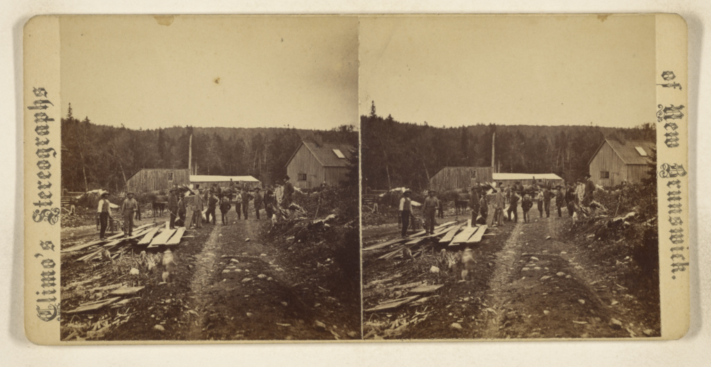 [Victoria Manganese Mines. Mackhamville, N.B. View of Washing Sheds, Caprenter's Shop, Drying & Packing Shed, etc.]; John S. Climo (Canadian, born England, 1833 - after 1890); 1870–1877; Albumen silver print; 84.XC.729.93; The J. Paul Getty Museum, Los Angeles; Rights Statement: No Copyright - United States