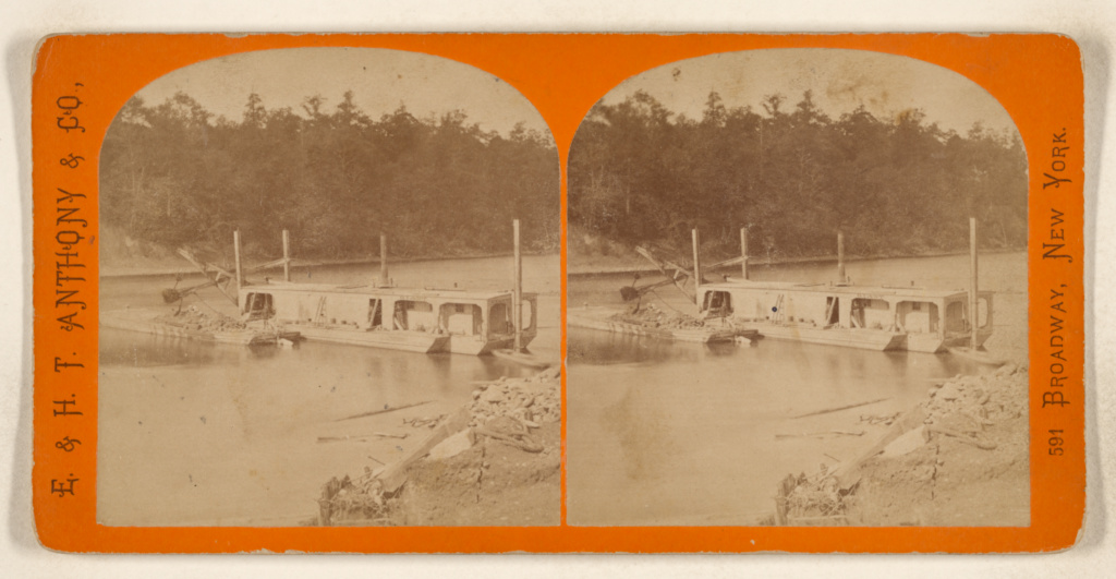 Steam Dredge  [New York & Oswego Midland Railroad] (Getty Museum)