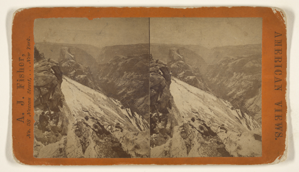 [From Summit of Clouds Rest, Yosemite Valley]; Albert J. Fisher (American, 1842 - 1882); 1870s; Albumen silver print; 84.XC.873.3836; The J. Paul Getty Museum, Los Angeles; Rights Statement: No Copyright - United States
