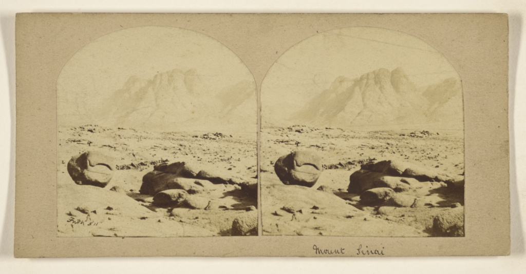 [Mount Sinai]; Francis Frith (English, 1822 - 1898); 1858; Albumen silver print; 84.XC.979.3500; The J. Paul Getty Museum, Los Angeles, Gift of Weston J. and Mary M. Naef; Rights Statement: No Copyright - United States