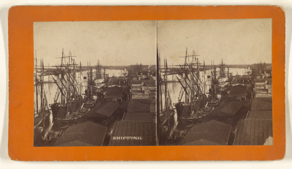 Shipping [Savannah, Georgia]; O. Pierre Havens (American, 1838 - 1912, active Savannah, Georgia); 1880s; Albumen silver print; 84.XC.873.9861; Rights Statement: No Copyright - United States