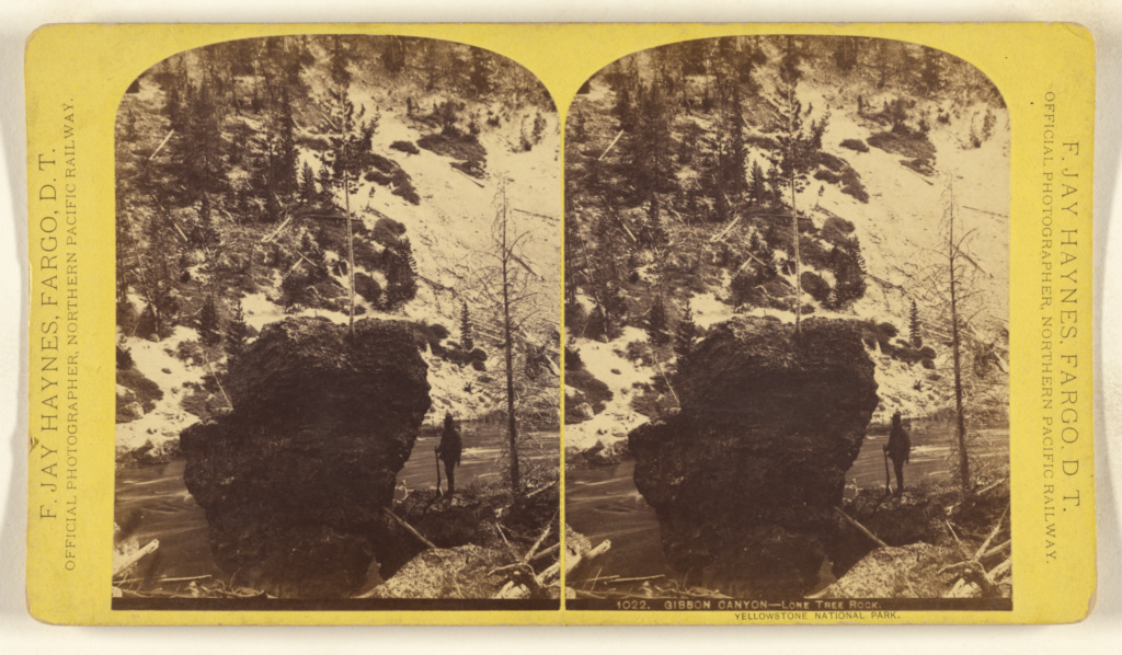 64d7f7b18e54b Gibbon Canyon - Lone Tree Rock. Yellowstone National Park. (Getty ...