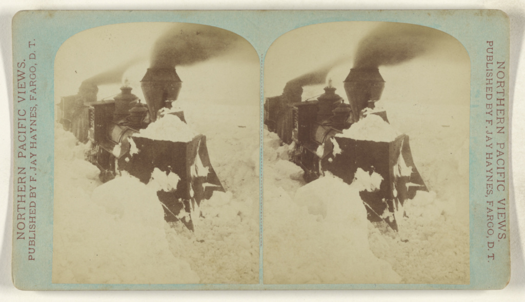[Train stuck in snow]; Frank Jay Haynes (American, 1853 - 1921); 1885–1888; Albumen silver print; 84.XC.979.4286; Gift of Weston J. and Mary M. Naef; Rights Statement: No Copyright - United States
