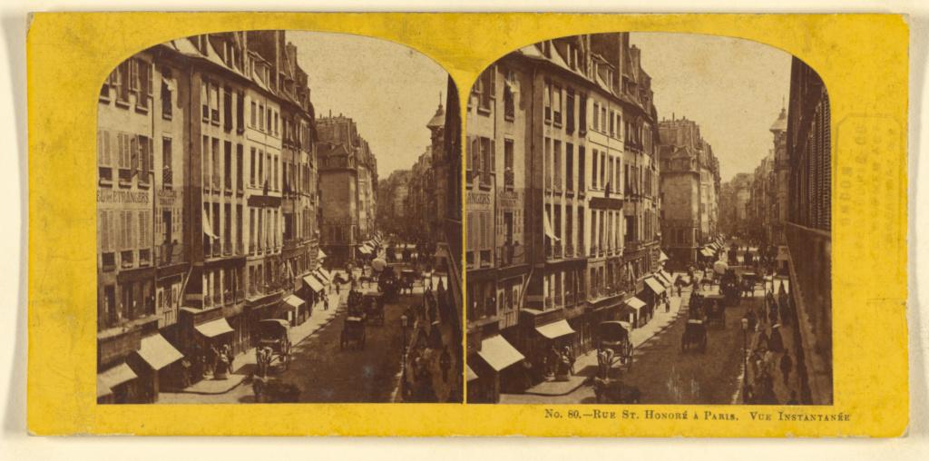 Rue St  Honore a Paris  Vue Instantanee  (Getty Museum)