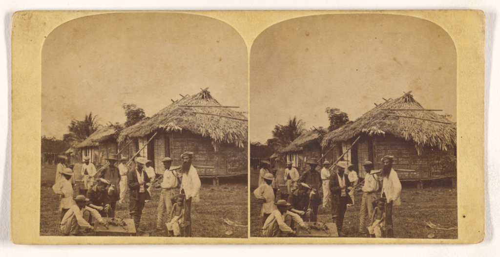 [Street scene, Isthmus of Darien]; Timothy H. O'Sullivan (American, about 1840 - 1882); 1870; Albumen silver print; 84.XC.873.8806; Rights Statement: No Copyright - United States
