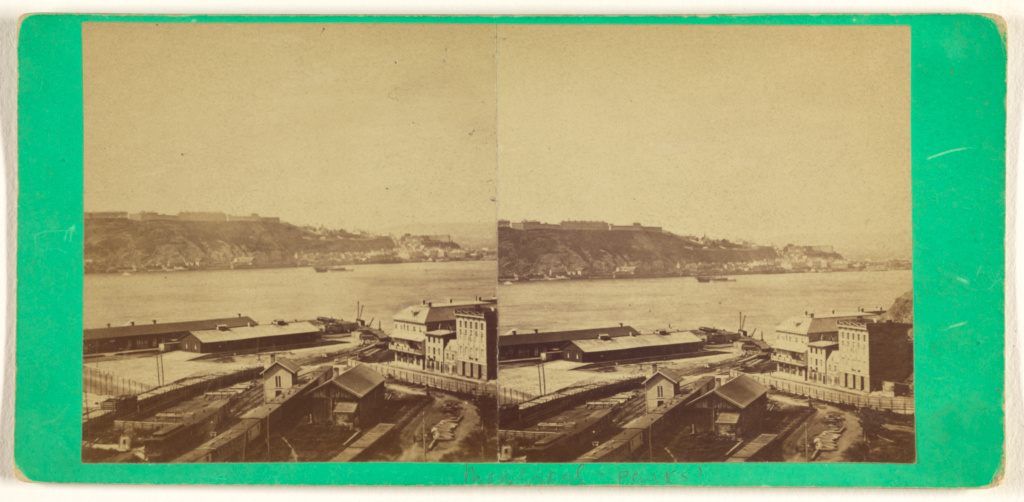 [View of Quebec, Canada]; Attributed to L. P. Vallée (Canadian, 1837 - 1905); about 1870; Albumen silver print; 84.XC.979.9757; The J. Paul Getty Museum, Los Angeles, Gift of Weston J. and Mary M. Naef; Rights Statement: No Copyright - United States