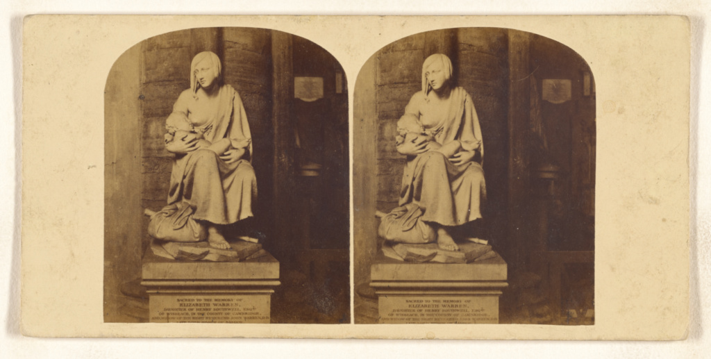 Interior of Westminster Abbey. Monument to the memory of Elizabeth Warren, daughter of Henry Southwell, Esq., of Wisbeach...; Victor A. Prout (English, 1835 - 1877); about 1860; Albumen silver print; 84.XC.870.387; The J. Paul Getty Museum, Los Angeles; Rights Statement: No Copyright - United States