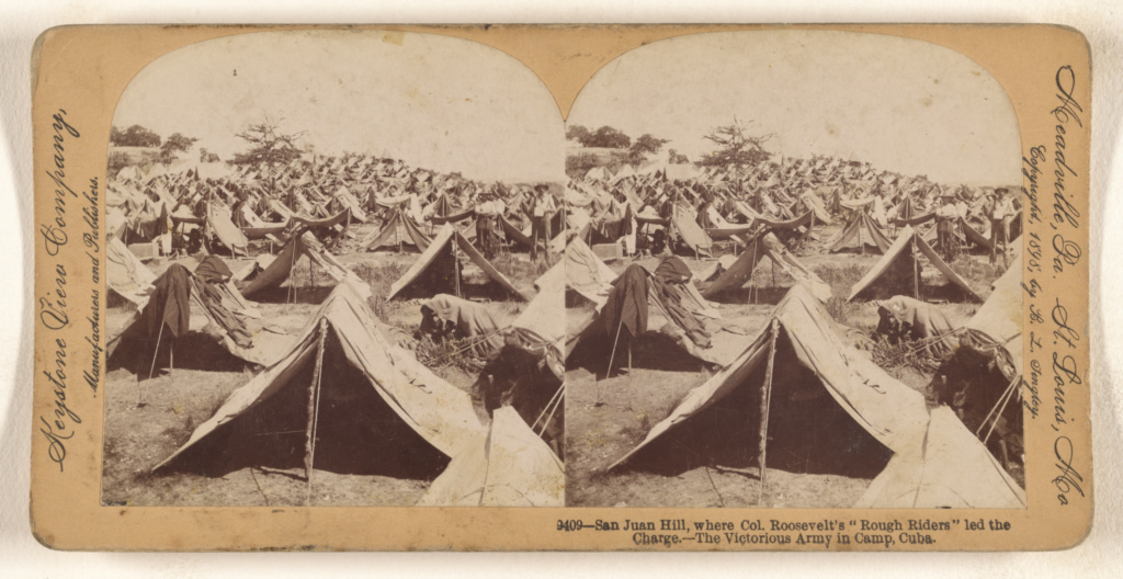 """San Juan Hill, where Col. Roosevelt's """"Rough Riders"""" led the Charge. - The Victorious Army in Camp, Cuba.; B. L. Singley (American, 1864 - 1938); 1898; Gelatin silver print; 84.XC.873.9225; The J. Paul Getty Museum, Los Angeles; Rights Statement: No Copyright - United States"""