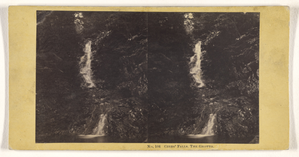 Gibbs' Falls. The Grotto.; John P. Soule (American, 1827 - 1904); about 1861; Albumen silver print; 84.XC.873.4820; Rights Statement: No Copyright - United States
