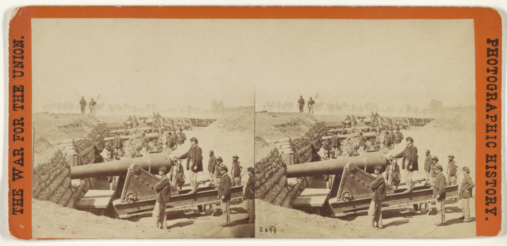 Fort Brady near the James River, Va. Garrisoned by Battery