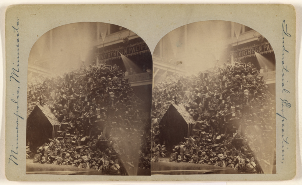 [Exhibit at Industrial Exposition, Minneapolis, Minnesota, 1886]; Attributed to Alonzo H. Beal (American, active 1860s - 1870s); 1886; Gelatin silver print; 84.XC.870.175; The J. Paul Getty Museum, Los Angeles; Rights Statement: No Copyright - United States