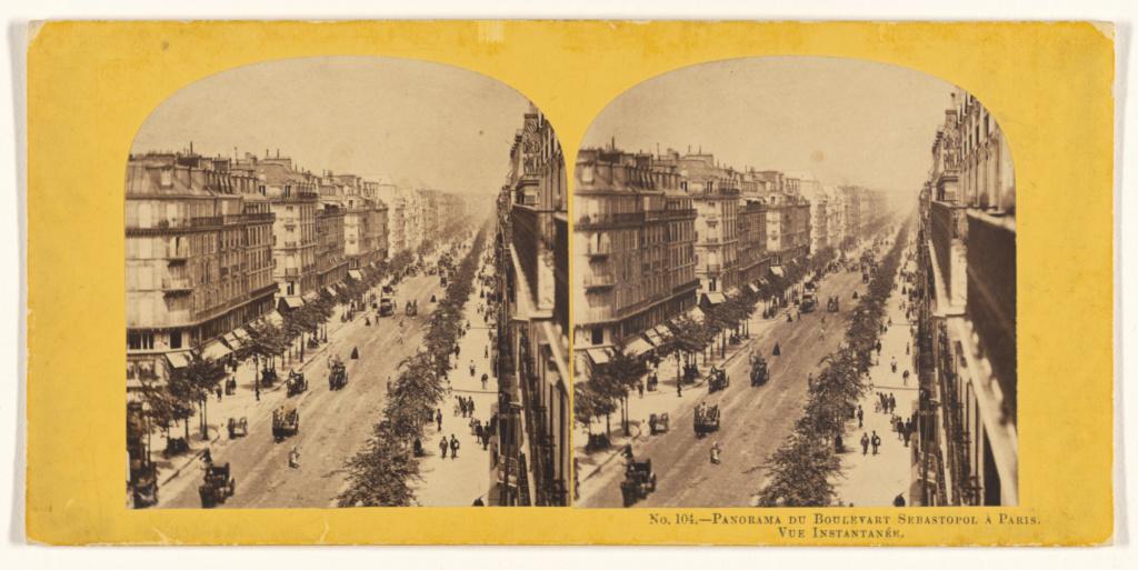 Panorama du Boulevart Sebastopol, a Paris  Vue Instantanee