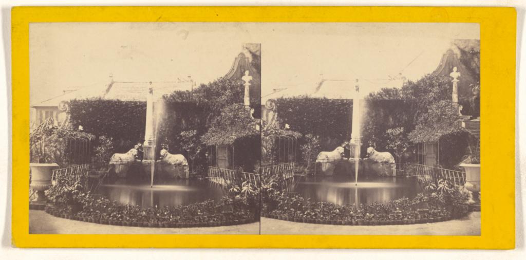 [Genova. Villa Scaglietto. Il Giardino.]; Unknown maker, Italian; about 1865; Albumen silver print; 84.XC.873.4405; Rights Statement: No Copyright - United States