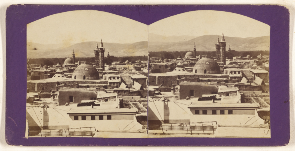 [View of Damascus]; Unknown; about 1870; Albumen silver print; 84.XC.873.2182; The J. Paul Getty Museum, Los Angeles; Rights Statement: No Copyright - United States