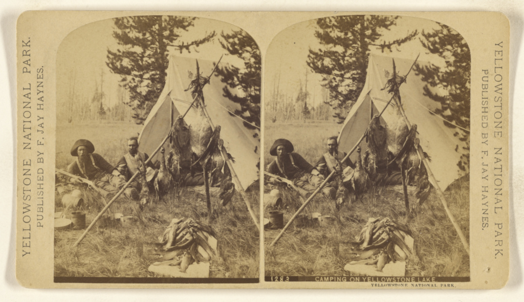 Camping on Yellowstone Lake. Yellowstone National Park.; Frank Jay Haynes (American, 1853 - 1921); about 1872; Albumen silver print; 84.XC.1158.440; The J. Paul Getty Museum, Los Angeles; Rights Statement: No Copyright - United States