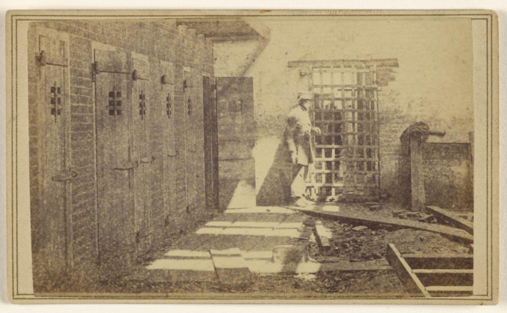 Slave Pens, Alexandria, Va.; Mathew B. Brady (American, about 1823 - 1896); 1862; Albumen silver print; 84.XC.873.5862; The J. Paul Getty Museum, Los Angeles; Rights Statement: No Copyright - United States