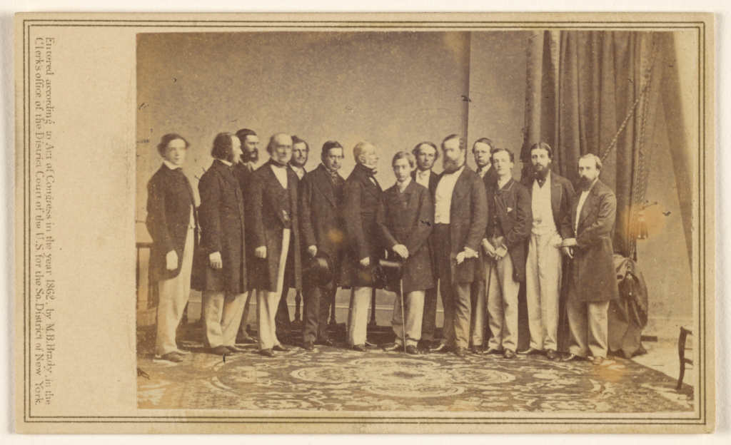 [Group portrait of fourteen men standing].; Mathew B. Brady (American, about 1823 - 1896); 1862; Albumen silver print; 84.XC.873.5866; The J. Paul Getty Museum, Los Angeles; Rights Statement: No Copyright - United States