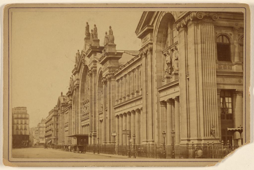 Gare du Chemin de Fer du Nord; Debitte & Hervè (French, active 1860s - 1870s); about 1880; Albumen silver print; 84.XC.873.4990; The J. Paul Getty Museum, Los Angeles; Rights Statement: No Copyright - United States