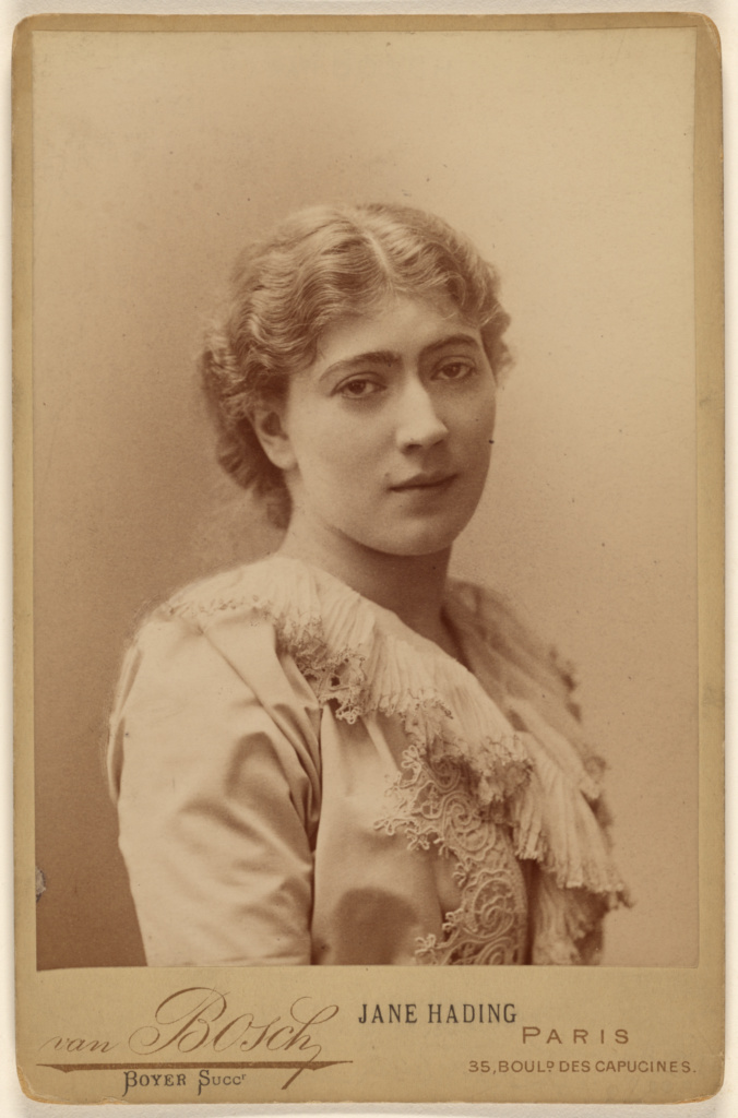 Jane Hading; Boyer; about 1885; Albumen silver print; 84.XD.879.203; The J. Paul Getty Museum, Los Angeles; Rights Statement: No Copyright - United States