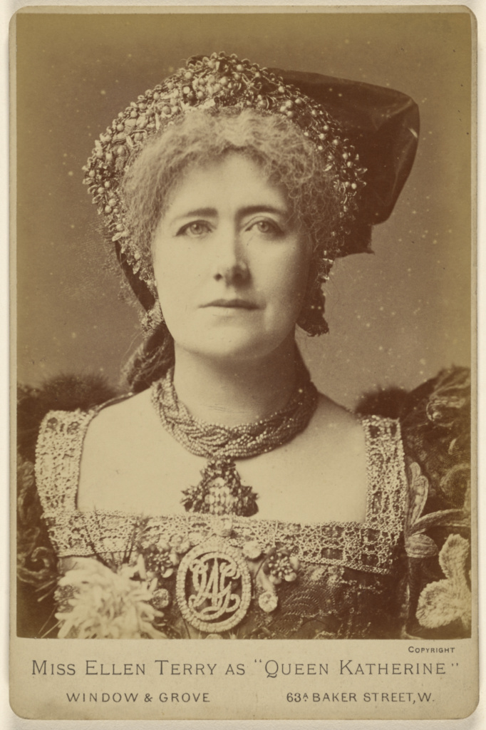 """Miss Ellen Terry as """"Queen Katherine""""; Window & Grove; 1880s; Albumen silver print; 84.XD.879.288; The J. Paul Getty Museum, Los Angeles; Rights Statement: No Copyright - United States"""