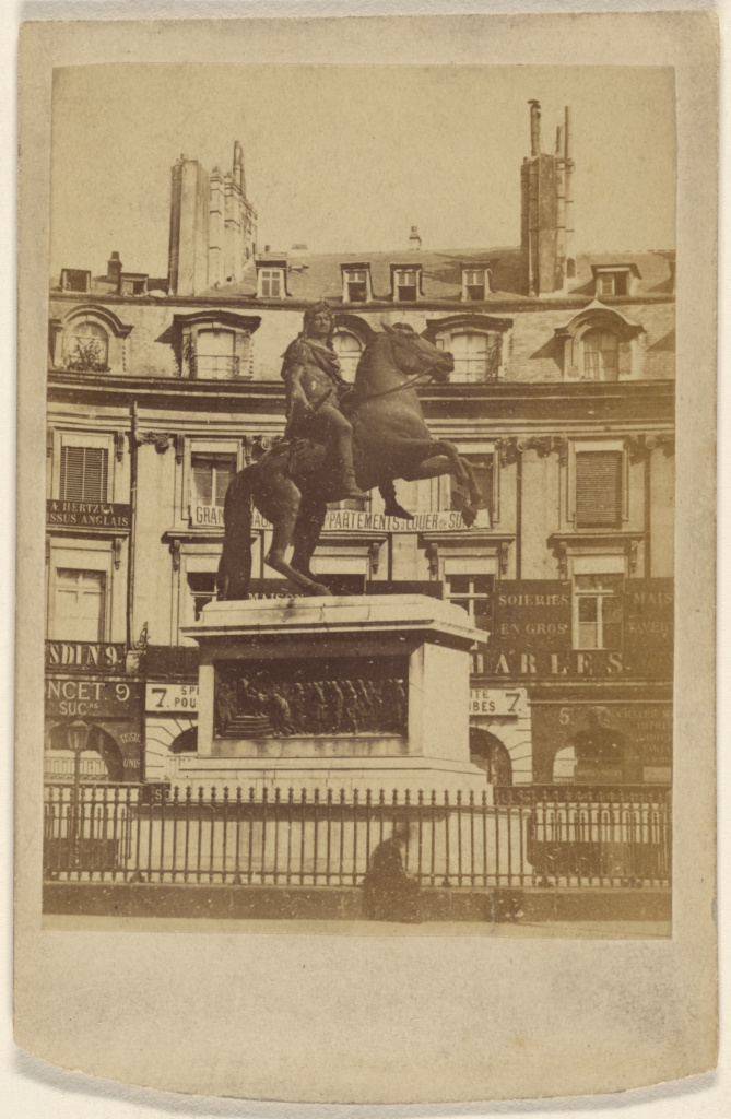 Place des Victoires; Unknown maker, French; November 10, 1871; Albumen silver print; 84.XD.1157.6; The J. Paul Getty Museum, Los Angeles; Rights Statement: No Copyright - United States