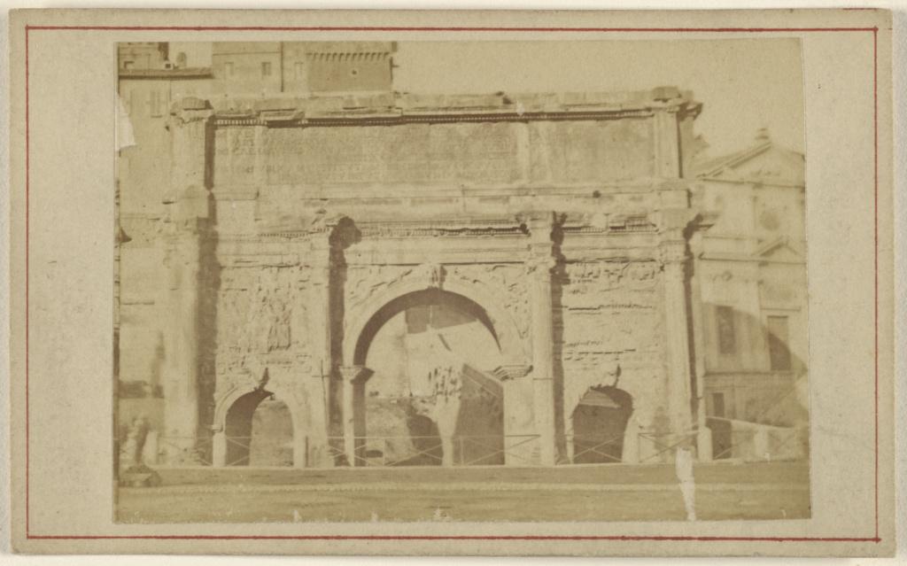 Roma. Settimio Severo; Unknown maker, Italian; 1865–1870; Albumen silver print; 84.XD.1157.411; The J. Paul Getty Museum, Los Angeles; Rights Statement: No Copyright - United States