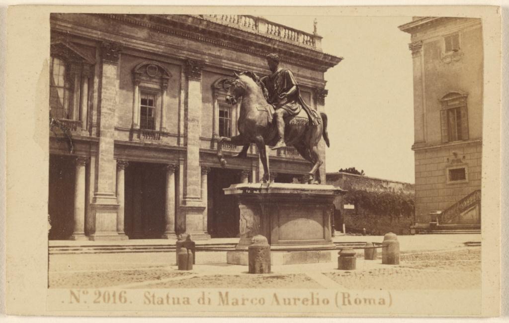 Sommer & Behles, photographer (Italian, 1867 - 1874), Statua di Marco  Aurelio (Roma), Italian, 1865–1870, Albumen silver print, 84.XD.1157.771.