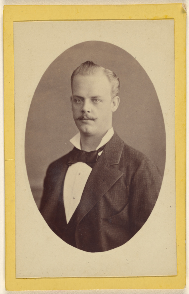[Portrait of W. Stürcke junior(?)]; P.J. Sciandra (German, active 1870s); about 1870; Albumen silver print; 84.XD.1157.1189; The J. Paul Getty Museum, Los Angeles; Rights Statement: No Copyright - United States