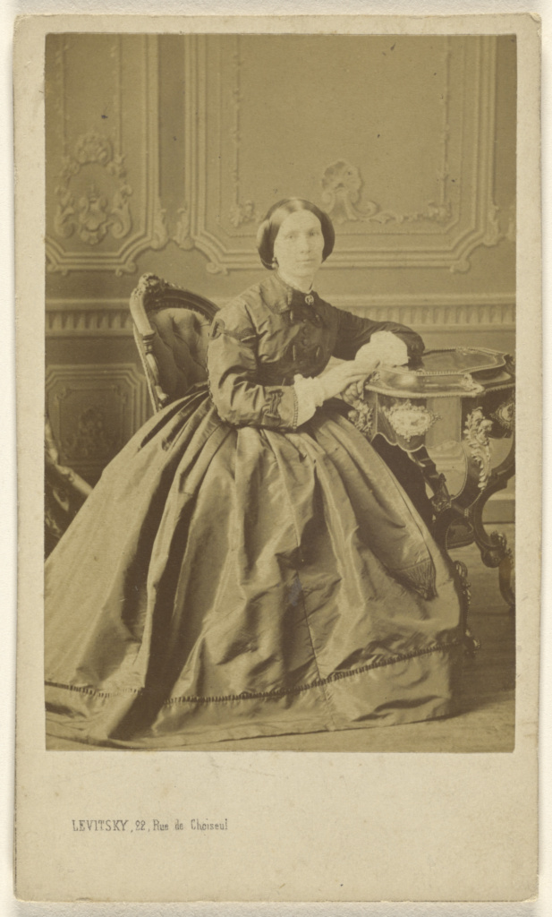 [Unidentified woman, seated]; Sergei Luvovich Levitsky (Russian, 1819 - 1898, active Paris, France); about 1865; Albumen silver print; 84.XD.1157.2385; The J. Paul Getty Museum, Los Angeles; Rights Statement: No Copyright - United States