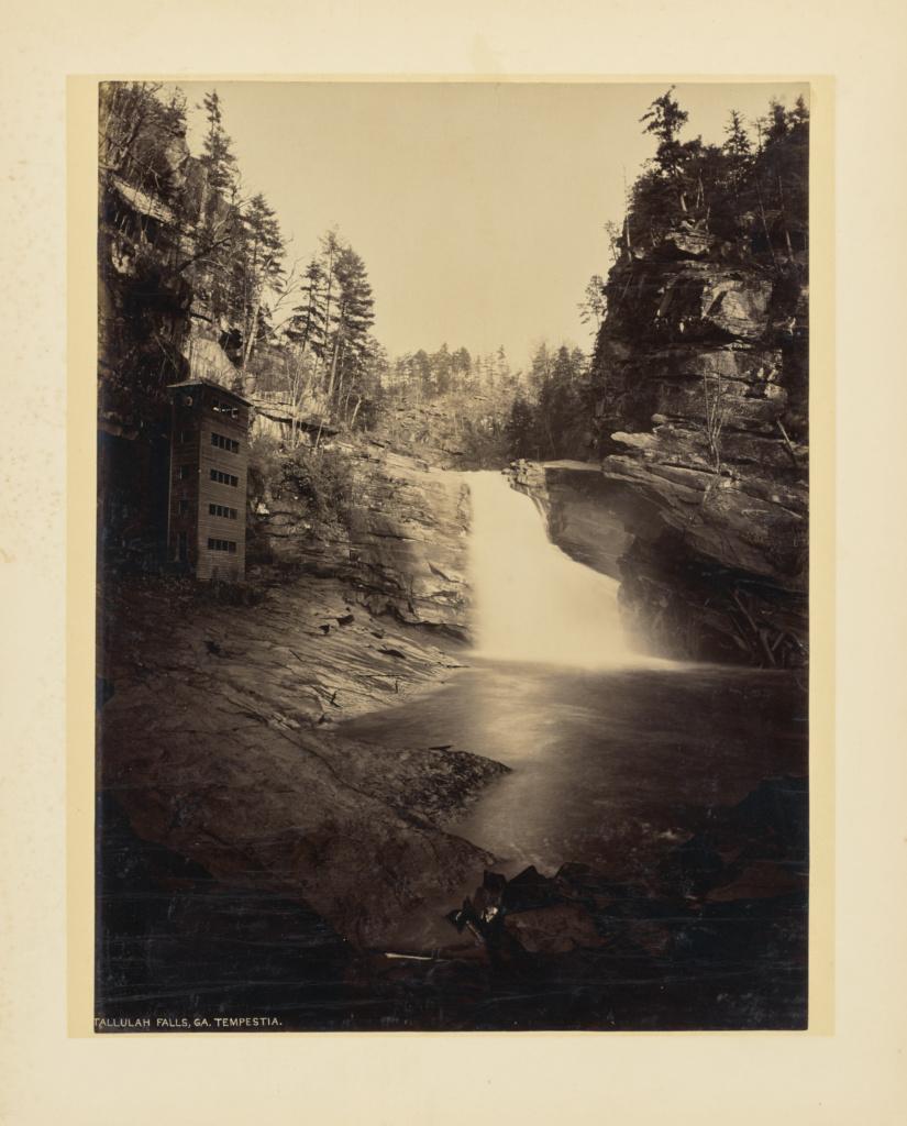 Tallulah Falls, Georgia. Tempestia.; John K. Hillers (American, 1843 - 1925); 1894; Albumen silver print; 32.9 × 24.6 cm (12 15/16 × 9 11/16 in.); 85.XO.38.19; Rights Statement: No Copyright - United States