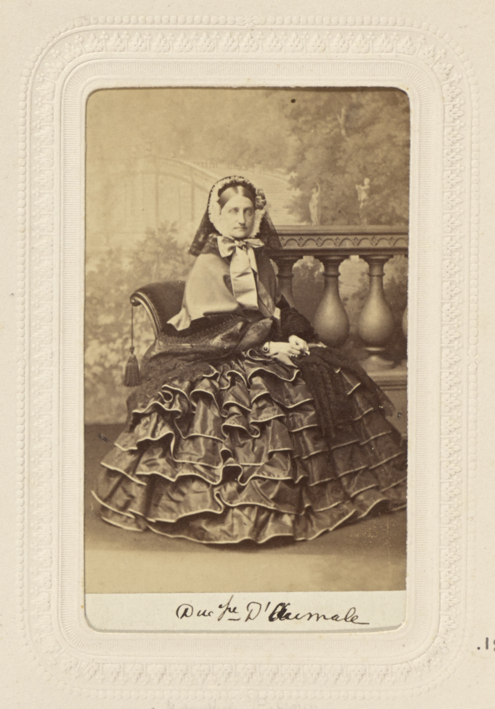 Duc[h]esse D'Aumale; Mayer Brothers; about 1862; Albumen silver print; 84.XD.379.182; The J. Paul Getty Museum, Los Angeles; Rights Statement: No Copyright - United States