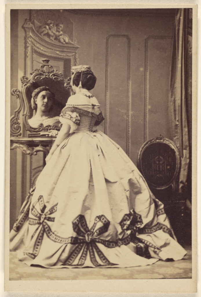 [Madame Camille Silvy]; Camille Silvy (French, 1834 - 1910); about 1863; Albumen silver print; 8.9 × 6 cm (3 1/2 × 2 3/8 in.); 93.XD.29.2; Gift in memory of Madame Camille Silvy born Alice Monnier from the Monnier Family; Rights Statement: No Copyright - United States