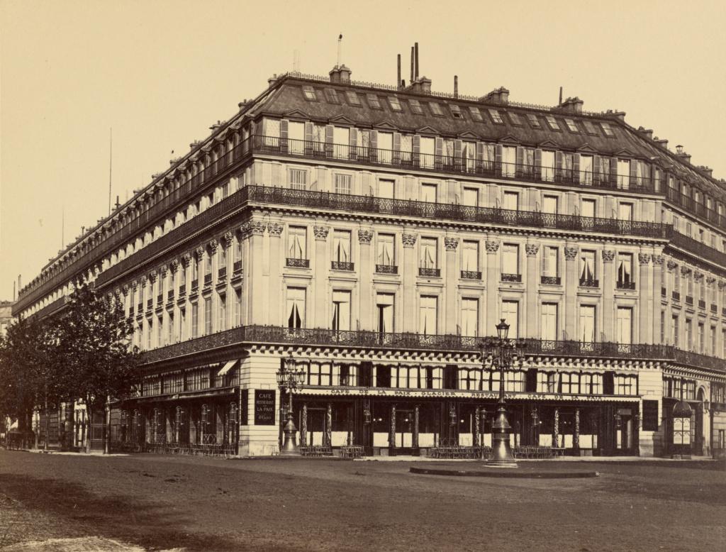 Le Grand Hotel And Cafe De La Paix Paris Getty Museum